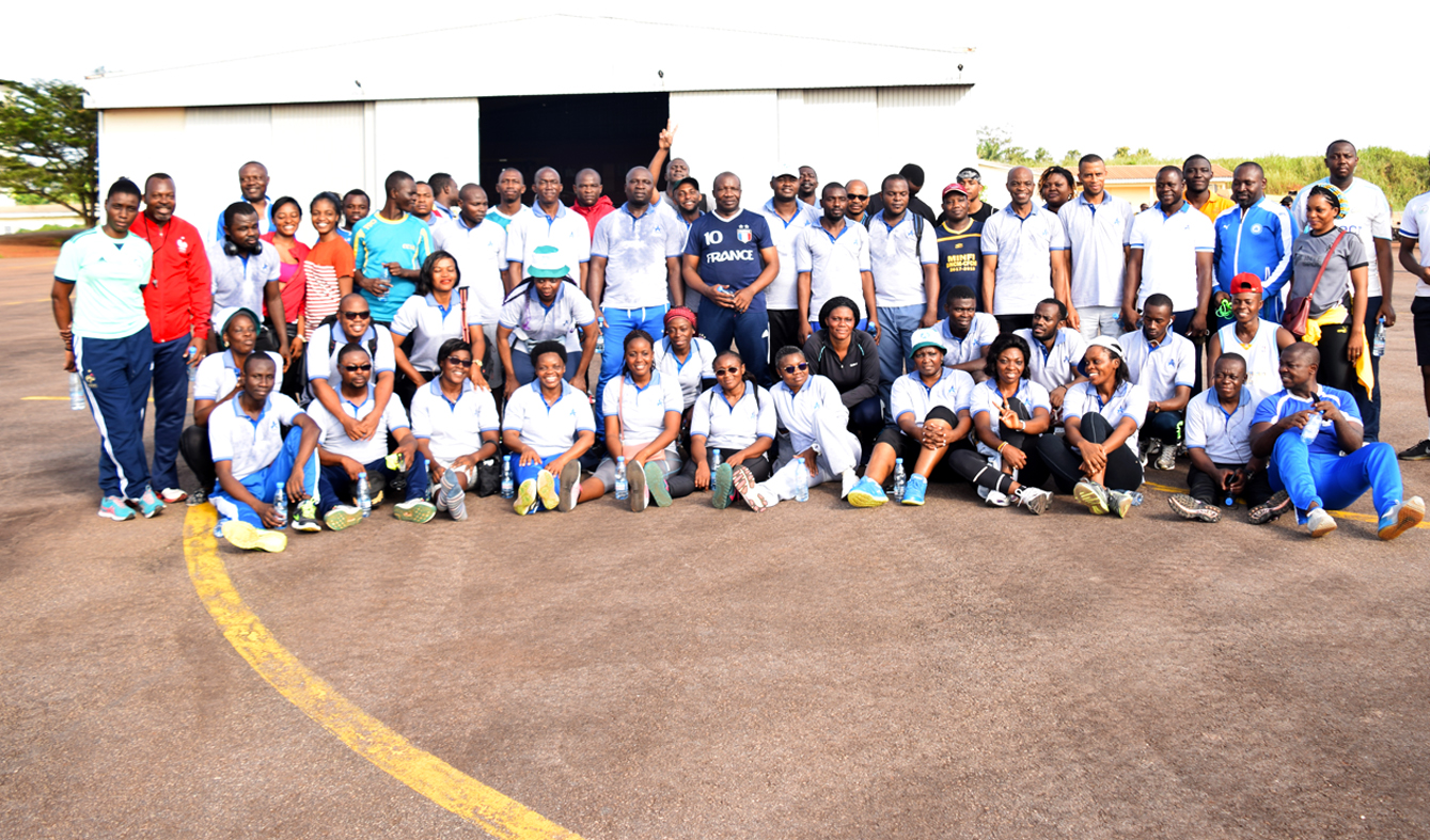 Family photo following sports activities, a highlight of CCAA's 2019 Labour Day.