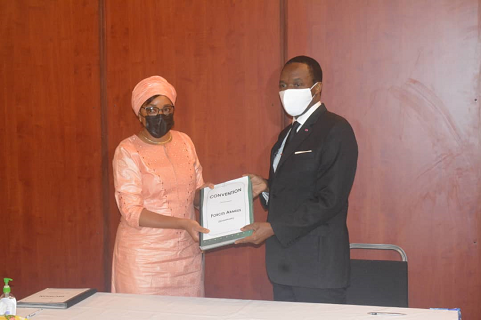 Renewal of partnership conventions with MINDEF in Yaoundé on September 16, 2021.