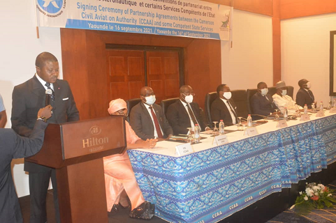 Opening speech by the MINT at the renewal of partnership conventions with certain State administrations in Yaoundé on September 16, 2021.