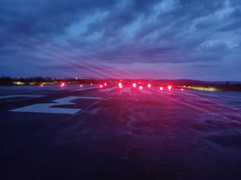 Lighting of the Bafoussam-Bamoungoum airport as of October 2021.