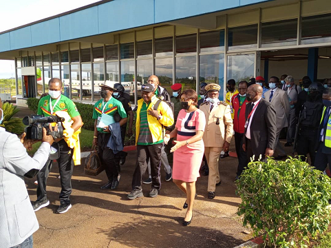 Guided tour of the Bafoussam airport infrastructure on October 17, 2021.
