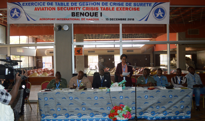 First airport security crisis management table exercise in Garoua, December 15, 2018.