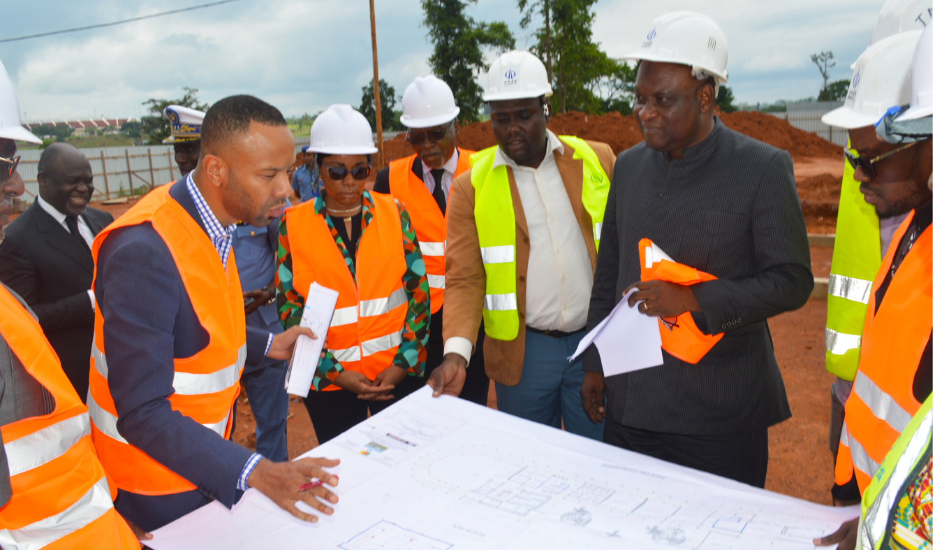 Follow- up visit of the construction of the CCAA headquarters building in Yaounde-Nsimalen by its steering committee on June 12, 2019.