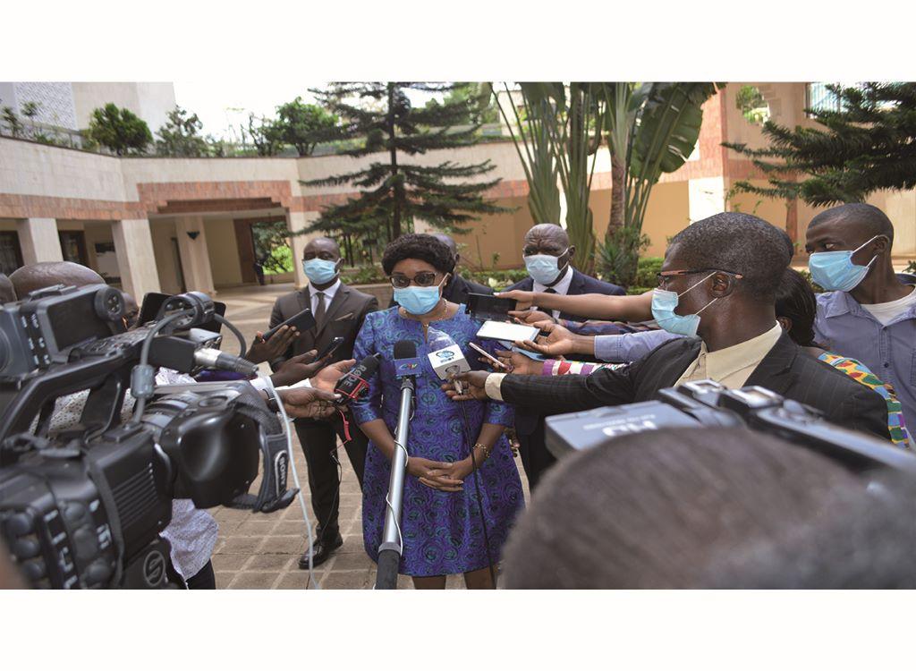 Madame le DG face à la presse lors du 1er CNS 2021