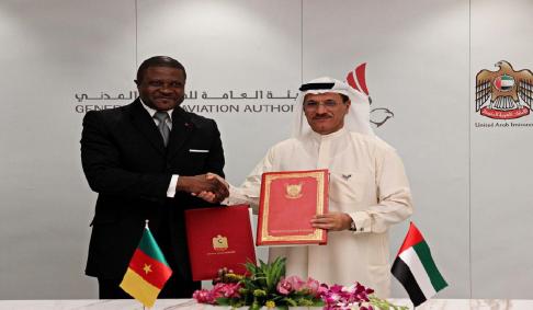 Accord de services aériens entre le Cameroun et les Emirats Arabes Unis le  10 mars 2020 à Dubaï.