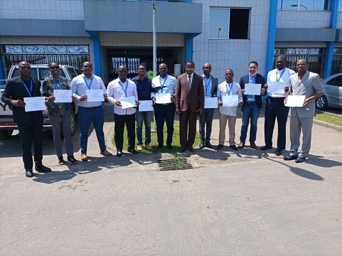 Training of a batch of ICAO instructors at the CCAA training centre in Douala on 21 July 2021.